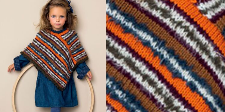Le poncho enfant rayures Pérou