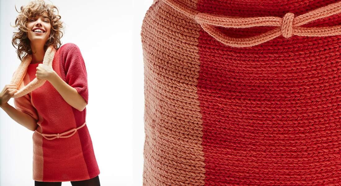 Le pull tunique en jersey