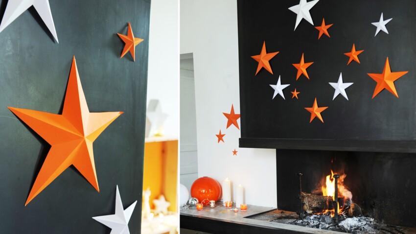 Des décorations de Noël en papier : une étoile facile en 3D