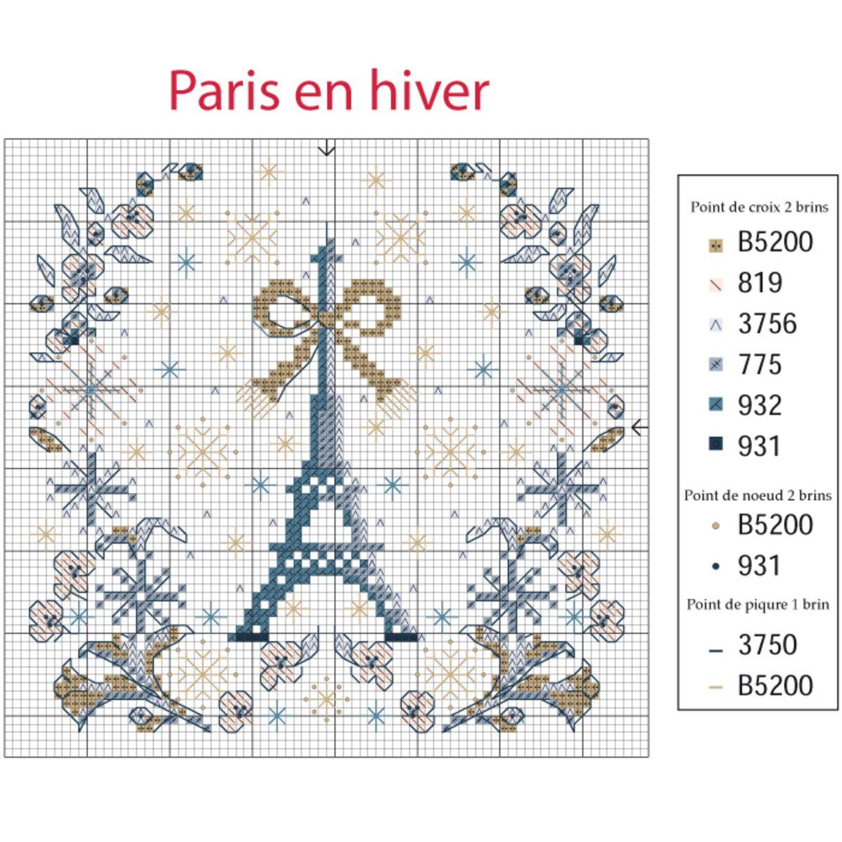 Gratuite Une Grille De Broderie Tour Eiffel Au Point De Croix Femme Actuelle Le Mag
