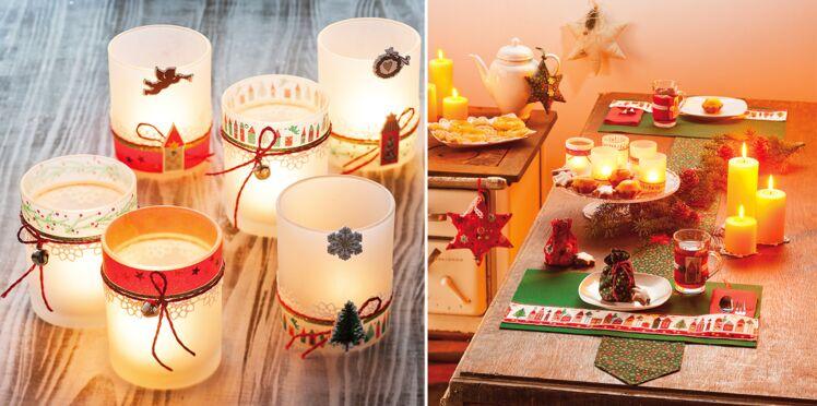 Des photophores de Noël pour décorer une table