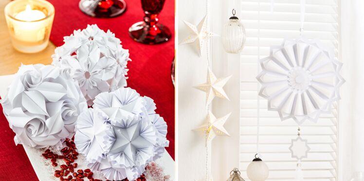Plein d'idées pour des boules de Noël en papier