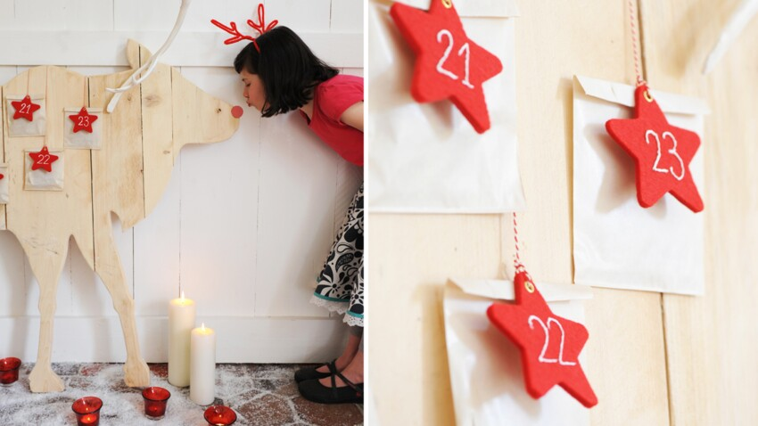 Un calendrier de l'Avent en bois pour Noël
