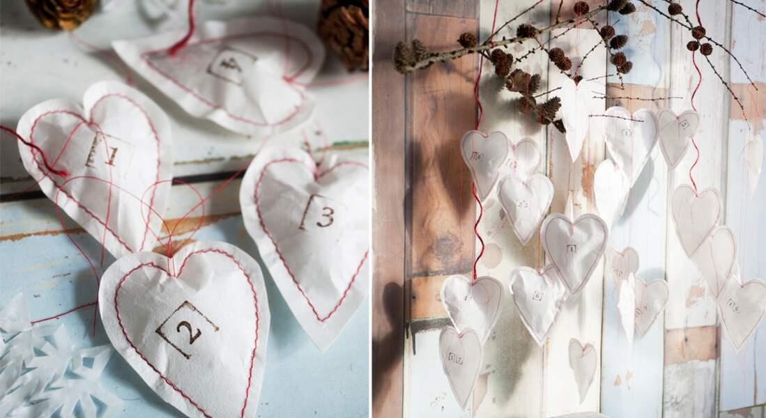 Poétique, le calendrier de l'Avent en papier
