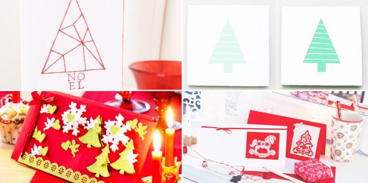 Carte De Noel A Confectionner.Toutes Nos Idées De Cartes De Noël à Fabriquer Femme