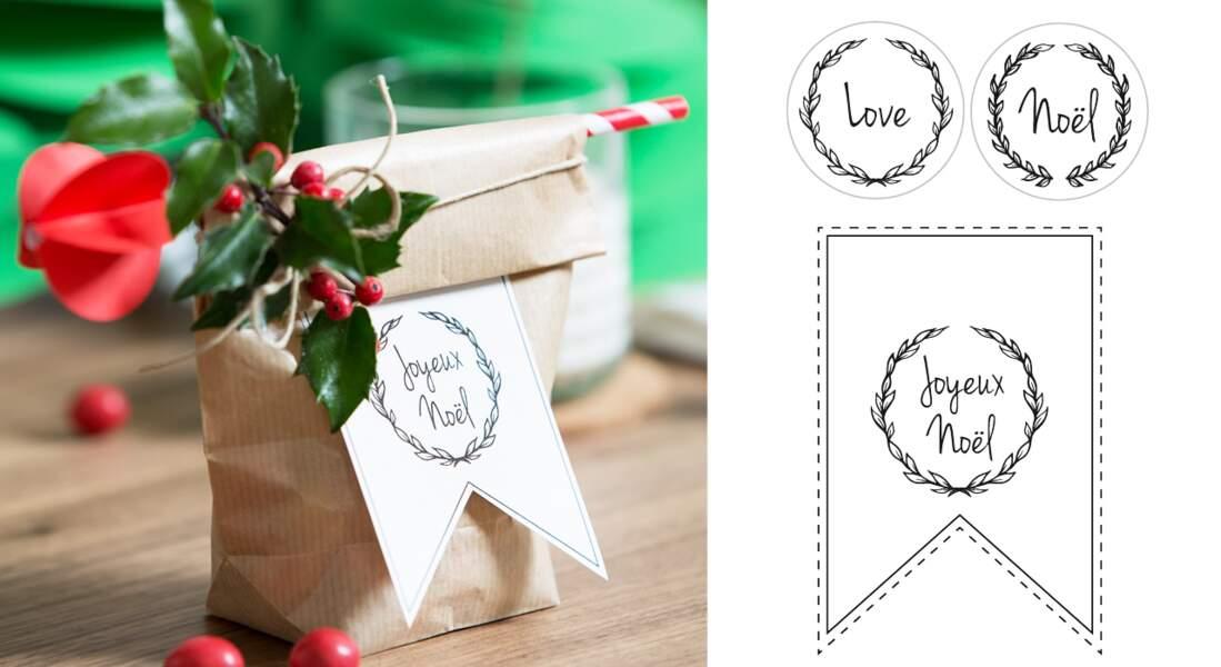 Les étiquettes gratuites de Noël à imprimer