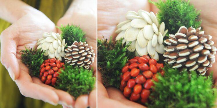 Déco de Noël express : des boules de graines