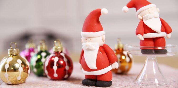 Un père Noël en pâte à sucre