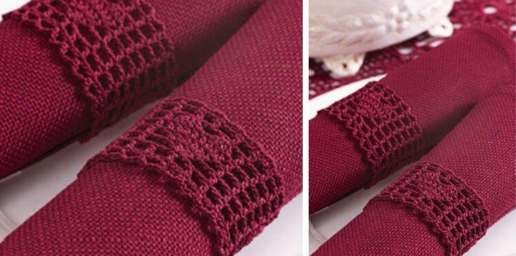 Des ronds de serviettes au crochet