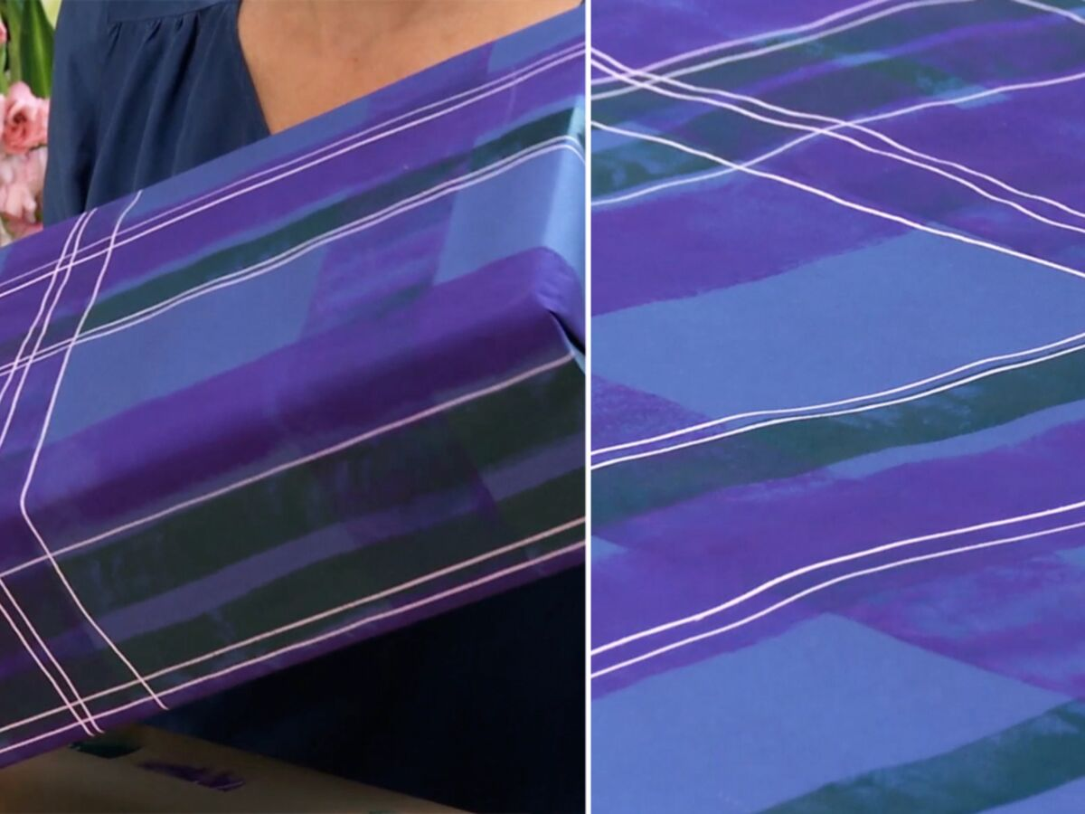 Papier A Peindre Motif papier cadeau de noël peindre un motif tartan : femme
