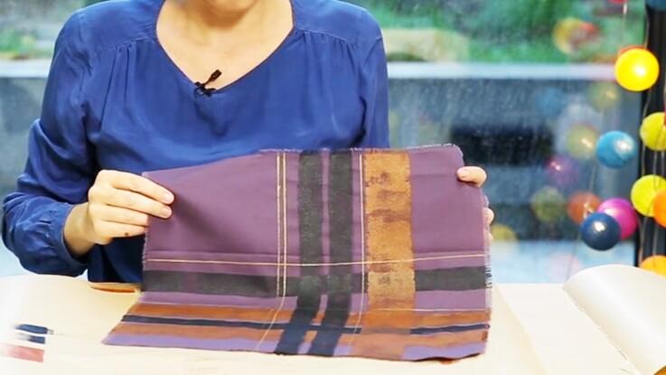 Peinture textile : comment faire un motif tartan ?