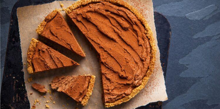 Tarte crunchy glacée au chocolat