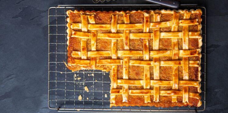 Tarte tartan aux amandes et au caramel