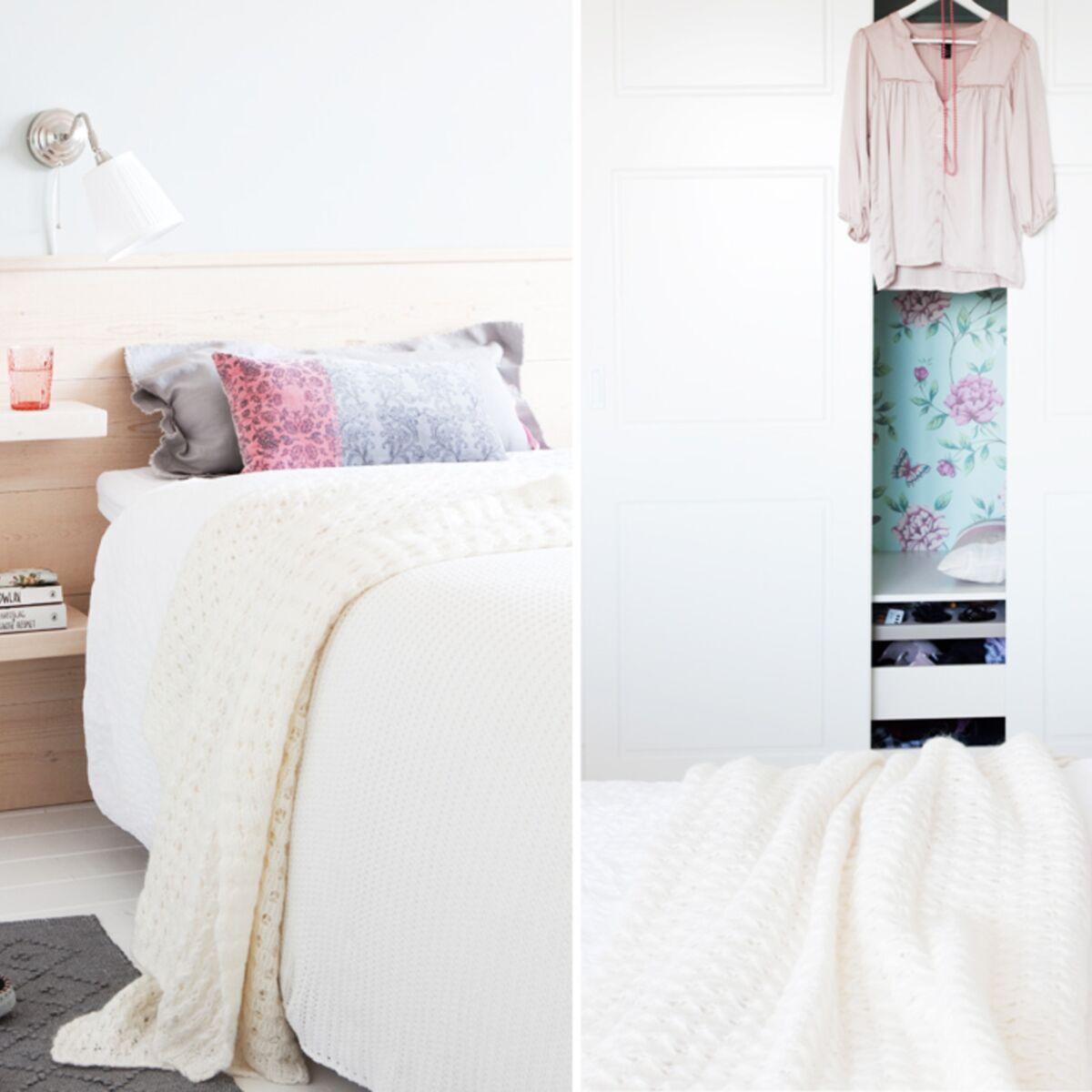 Fabriquer Ciel De Lit bricolage : une tête de lit très pratique : femme actuelle