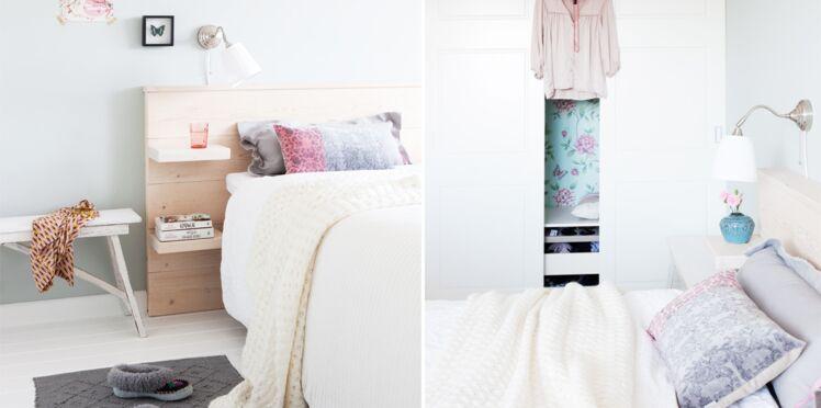 Bricolage : une tête de lit très pratique