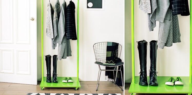 Bricolage : un vestiaire pratique et futé pour mon entrée