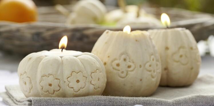 Belle idée d'automne : un pâtisson photophore
