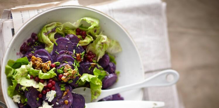 Salade de vitelottes au bleu