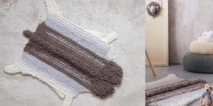 Le tapis mouton au crochet