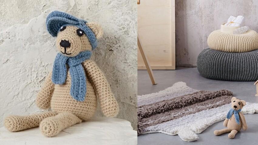 L'ours doudou au crochet