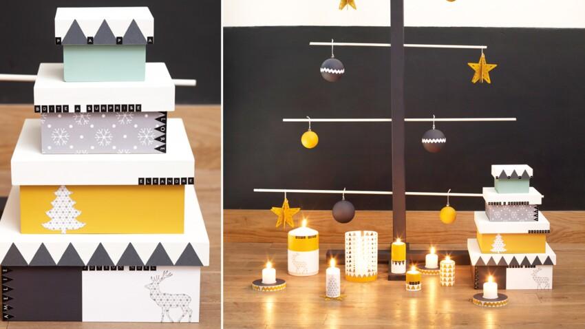 Bricolage de Noël facile : des boîtes à cadeaux personnalisées