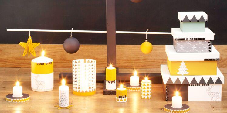 Graphiques et pas chères, des bougies de Noël en papier