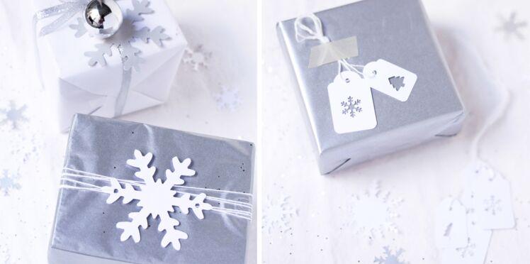 Etiquettes à la perforatrice pour décorer ses cadeaux de Noël