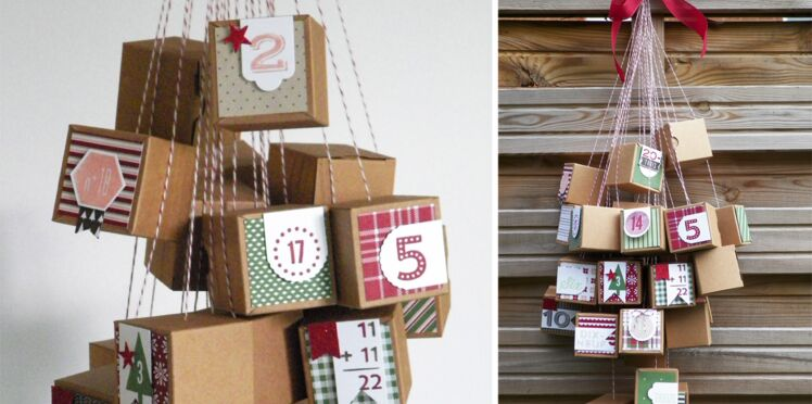 Un calendrier de l'Avent : des petites boîtes surprises