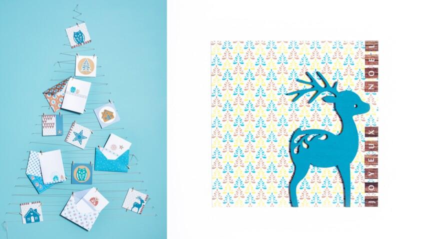 Carte de Noël à fabriquer : le cerf en bois