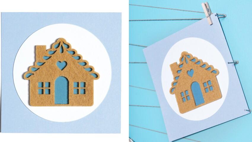 Carte de Noël à fabriquer : la maison en feutrine