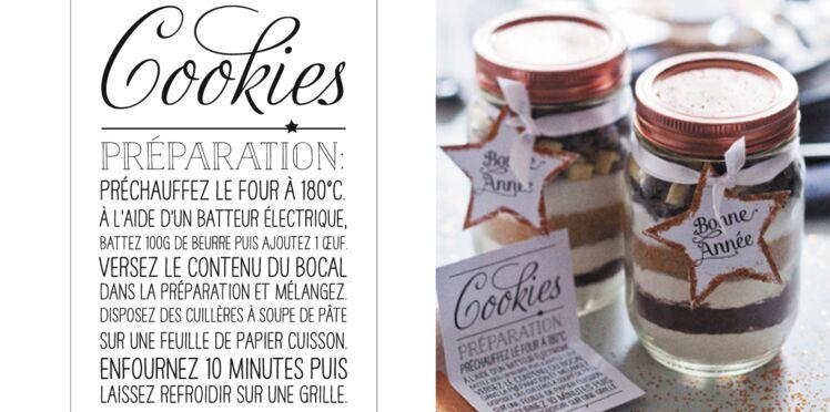Cadeaux d'assiette : la préparation pour cookies
