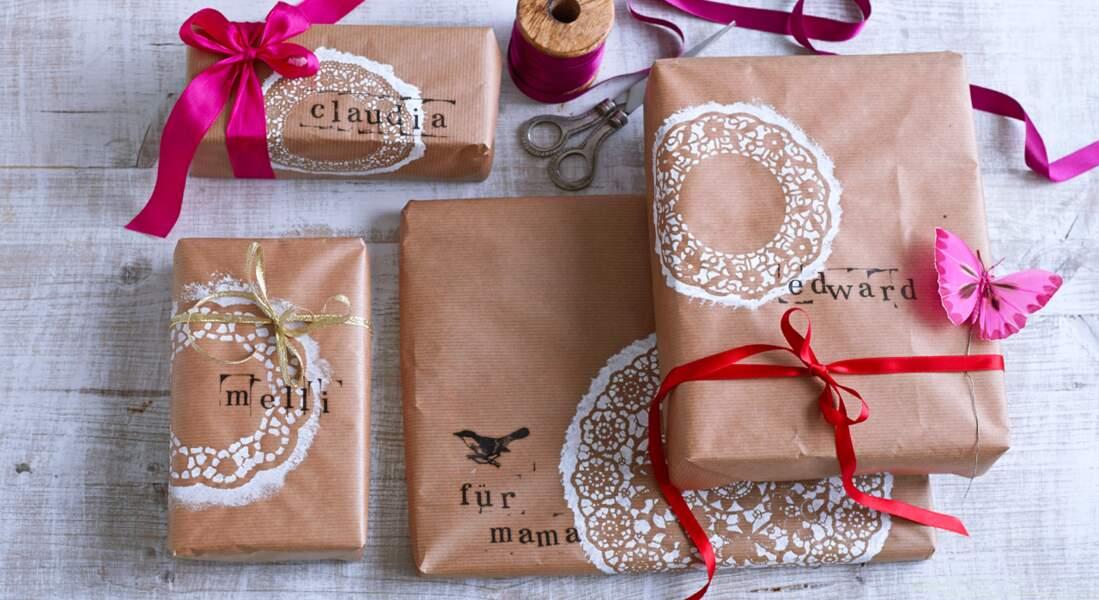 Paquets cadeaux de Noël originaux