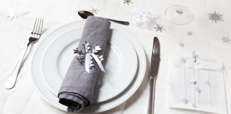 Noël express : décoration de table à la perforatrice