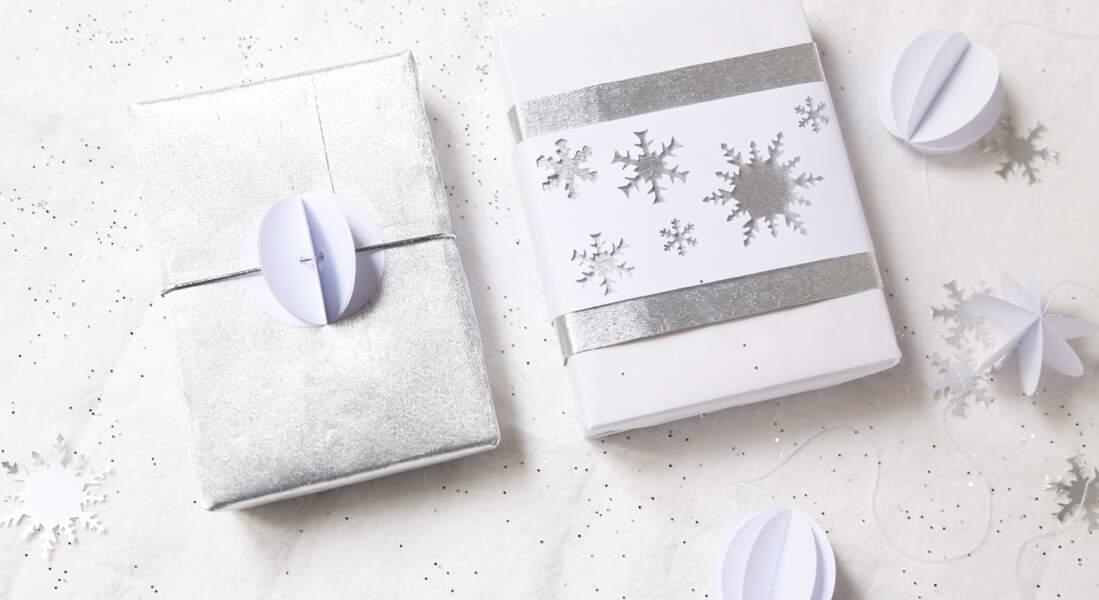 Décorer ses paquets cadeaux de Noël avec une perforatrice