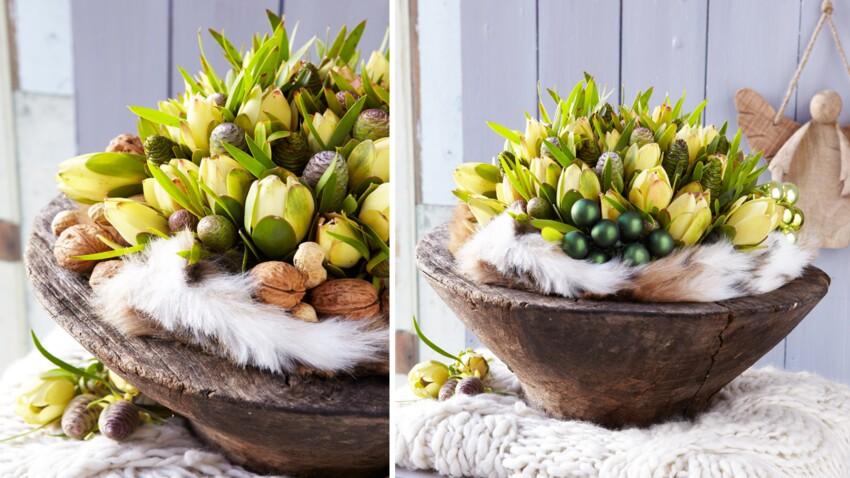 Art floral : un bouquet de Noël de protéas