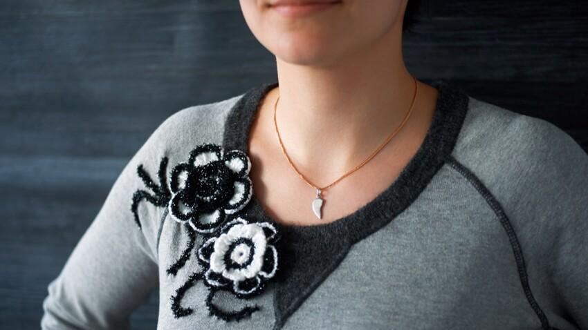 Une custom de pull au crochet