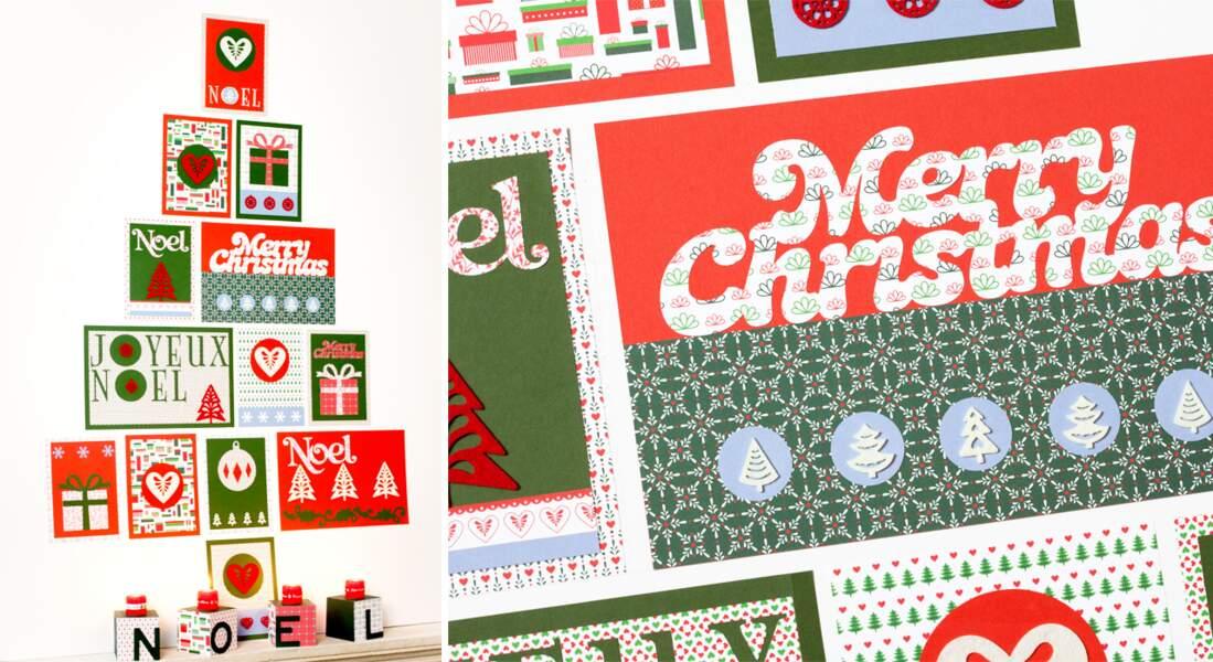 Un sapin de Noël mural