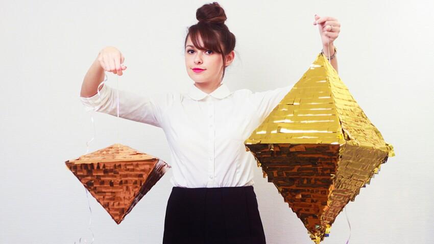 Décoration de fête maison : une piñata diamant