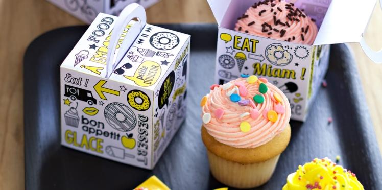 Vidéo et printable gratuit de la boîte à cupcake