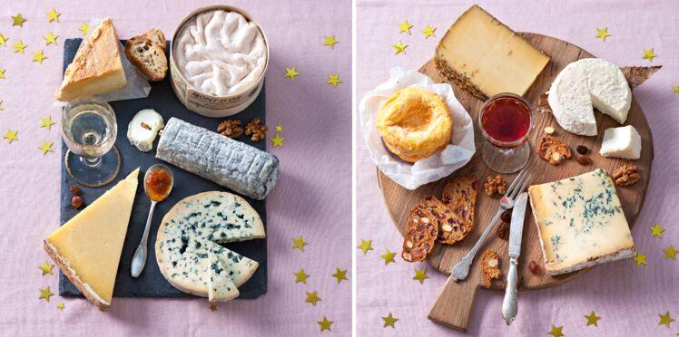 Deux plateaux de fromages pour les fêtes