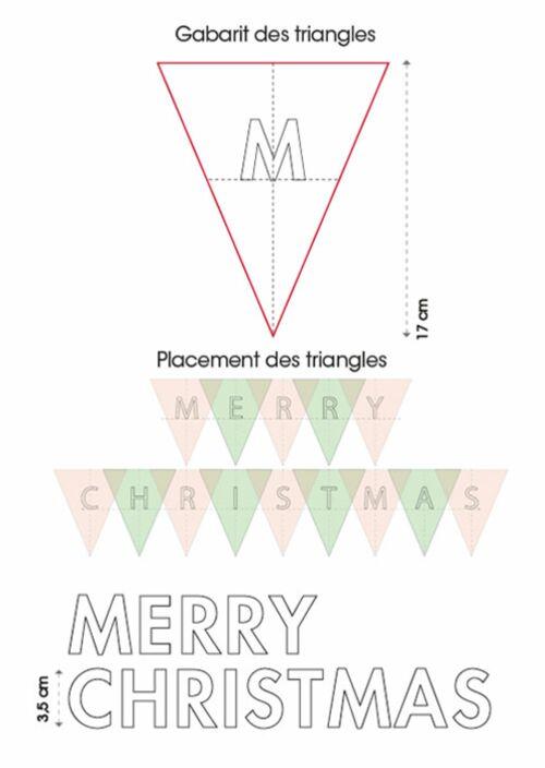 La Guirlande De Noël Merry Christmas à Coudre Femme Actuelle Le Mag