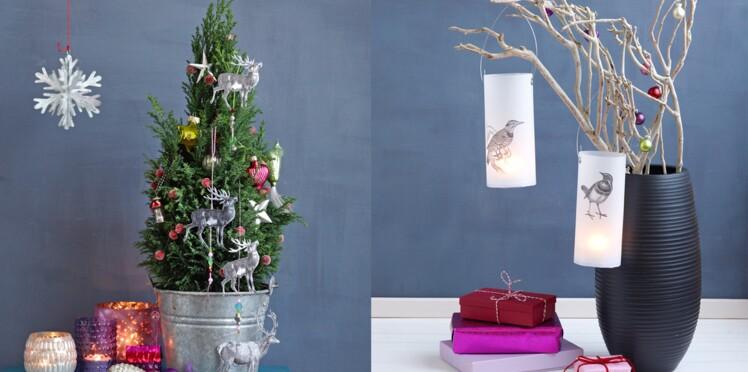 Décoration de Noël à faire soi-même avec des gravures d'animaux