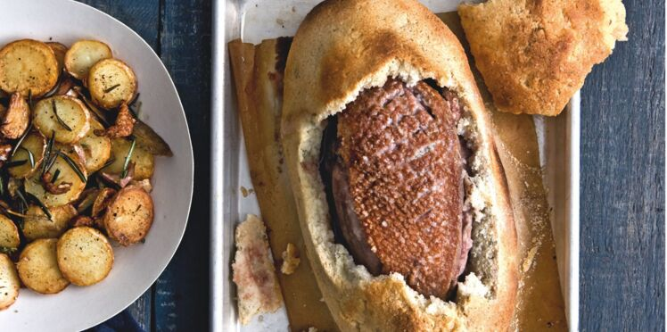 Magrets fondants en croûte de pain