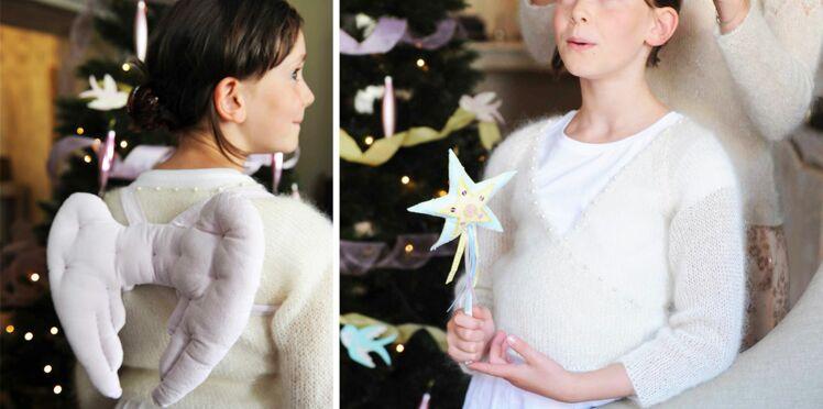 Déguisement de fée : ailes d'anges et baguette magique
