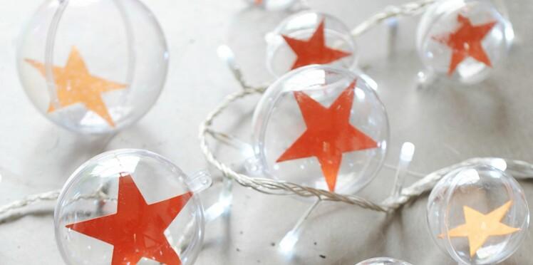 Boules de Noël étoilées express