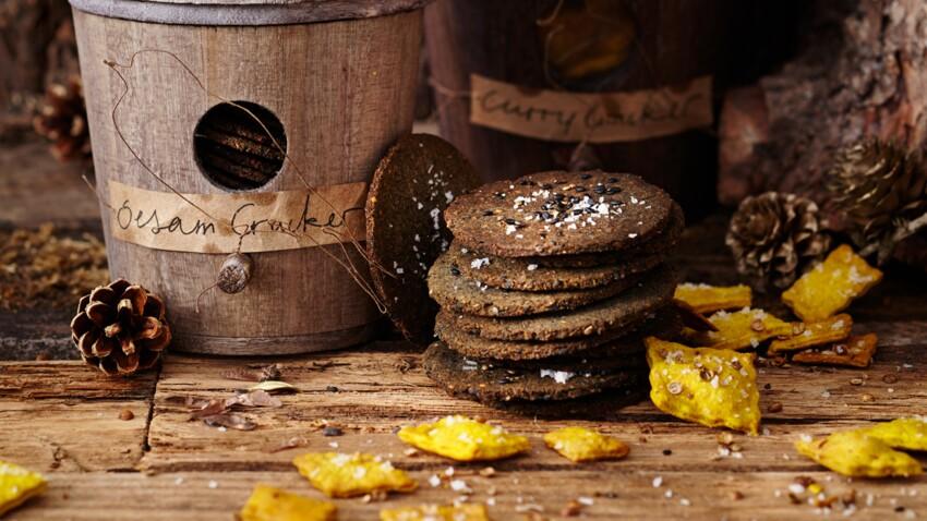Cadeaux d'assiette : biscuits au sésame et au curry