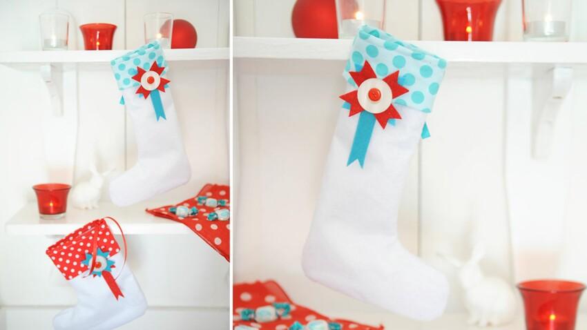 Les bottes de Noël en feutrine