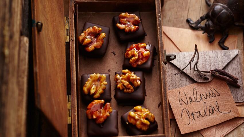 Bouchées chocolatées au noix