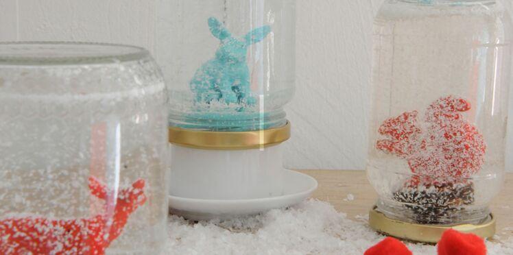 Déco de Noël : des boules à neige animaux