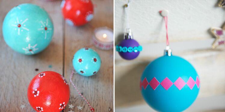 Express et pas chères, des boules de Noël customisées